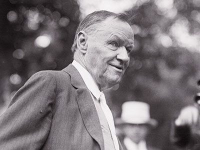 Gray scale image of Clarence Darrow, criminal defense law attorney