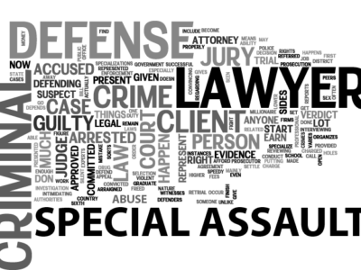special assault criminal defense lawyer word collage